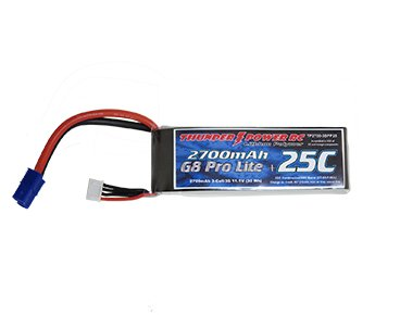 Image 0 of 2700mAh 3-Cell/3S 11.1V G8 Pro Lite+ 25C LiPo w/EC3 power lead and JST