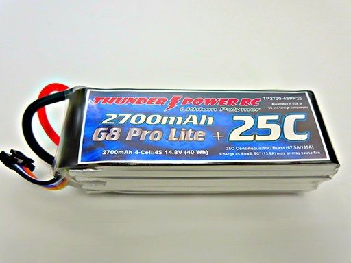 Image 0 of 1350mAh 4-Cell/4S 14.8V G8 Pro Lite+ 25C LiPo