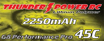Image 1 of 2250mAh 3-Cell/3S 11.1V G8 Performance Pro 45C LiPo