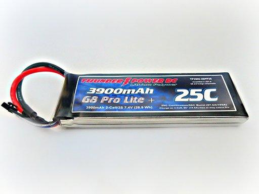 Image 0 of 3900mAh 2-Cell/2S 7.4V G8 Pro Lite+ 25C LiPo