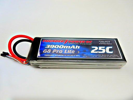 Image 0 of 3900mAh 3-Cell/3S 11.1V G8 Pro Lite+ 25C LiPo