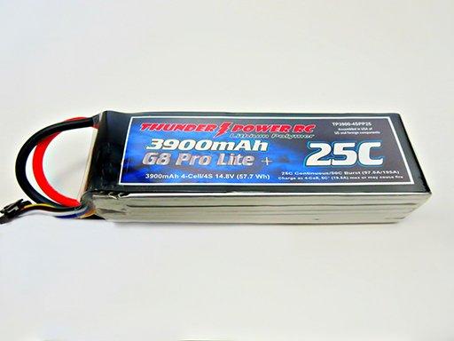 Image 0 of 3900mAh 4-Cell/4S 14.8V G8 Pro Lite+ 25C LiPo