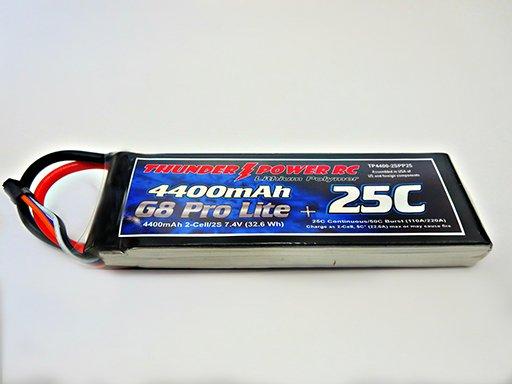 Image 0 of 4400mAh 2-Cell/2S 7.4V G8 Pro Lite+ 25C LiPo