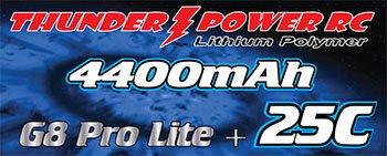 Image 1 of 4400mAh 2-Cell/2S 7.4V G8 Pro Lite+ 25C LiPo