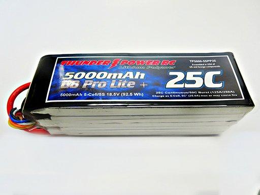 Image 0 of 5000mAh 5-Cell/5S 18.5V G8 Pro Lite+ 25C LiPo