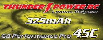 Image 0 of 325mAh 1-Cell/1S 3.7V G8 Performance Pro 45C LiPo, JST
