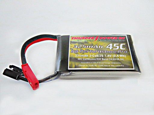 Image 0 of 325mAh 2-Cell/2S 7.4V G8 Performance Pro 45C LiPo, JST
