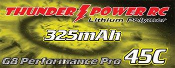 Image 1 of 325mAh 2-Cell/2S 7.4V G8 Performance Pro 45C LiPo, JST