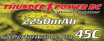 Image 1 of 2250mAh 2-Cell/2S 7.4V G8 Performance Pro 45C LiPo