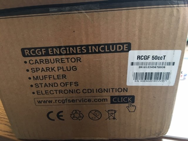 Image 4 of RCGF 50cc Twin V2 50TN TWIN Gas Engine