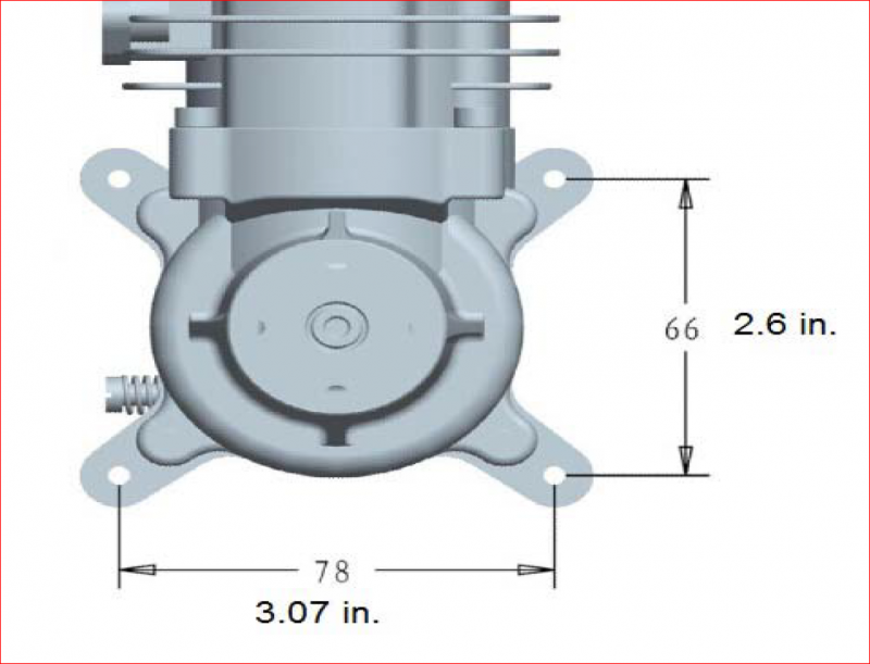 Image 5 of RCGF 56CC Gas Engine rear carb