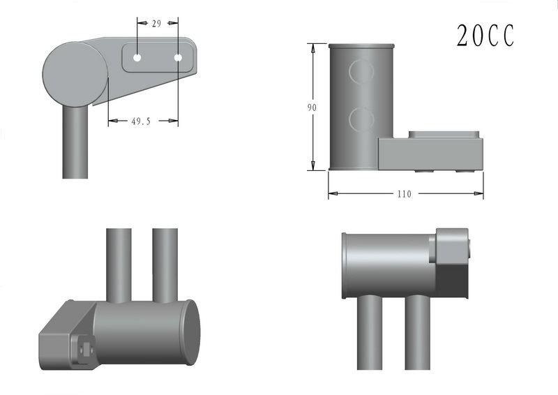 Image 2 of RCGF 20cc SBM Pitts Mufflers