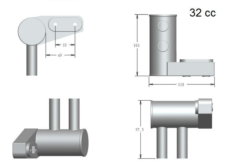 Image 2 of RCGF 32cc Pitts Mufflers