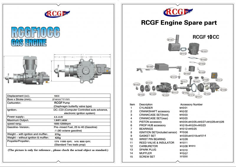 Image 4 of RCGF 10CC Gas Engine BM