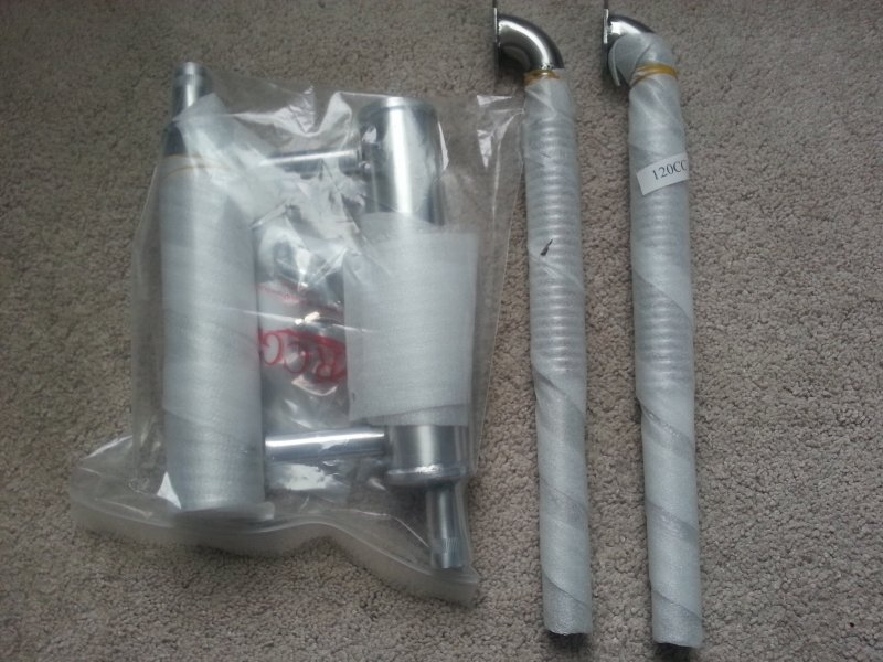 Image 0 of 120cc RCGF Canisters & Flex header set