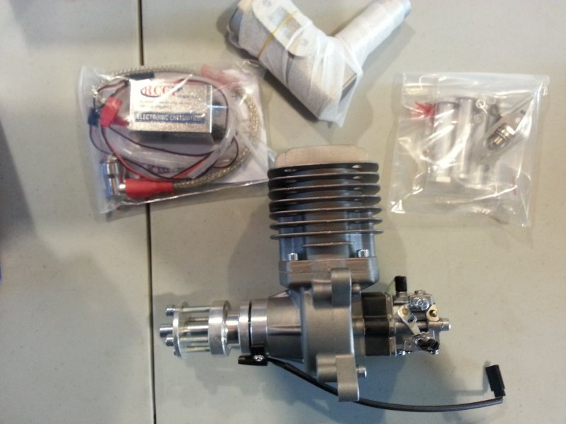 Image 1 of RCGF 56CC Gas Engine rear carb