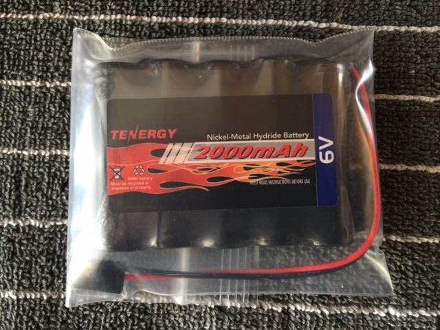 Image 0 of Tenergy 6.0V 2000mAh NiMh 5-Cell Receiver Pack Battery