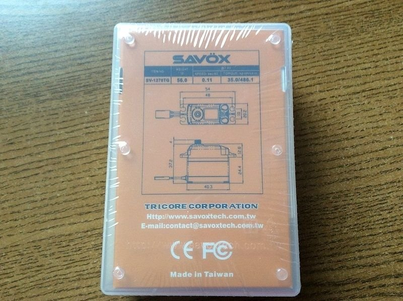 Image 1 of Savox 1270TG  HV CORELESS DIGITAL SERVO .11/486.1 STANDARD SIZE 7.4V