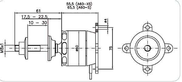 Image 1 of Hacker - HACA60-6XS - Hacker A60-6XS V2 Brushless Motor, 1900W