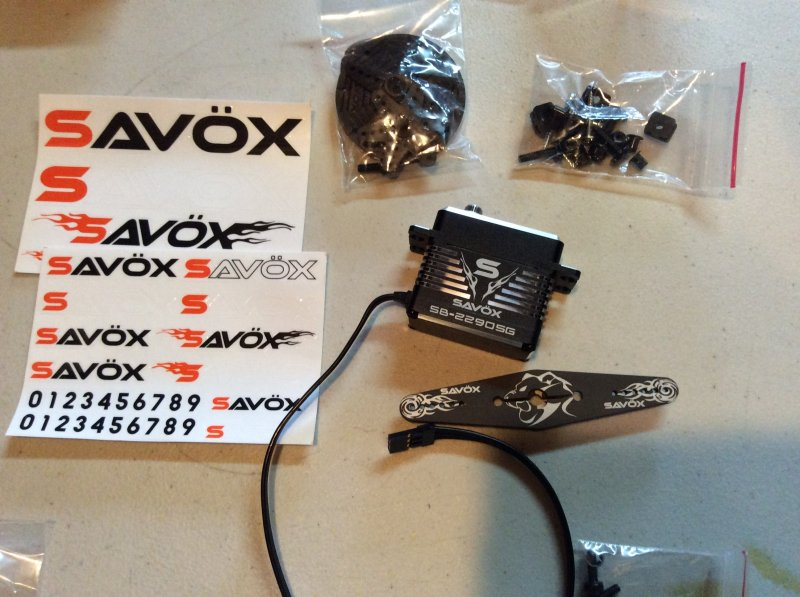Image 5 of Savox 2290SG Monster Torque Brushless Servo, Black Edition .13sec / 694.4oz 7.4