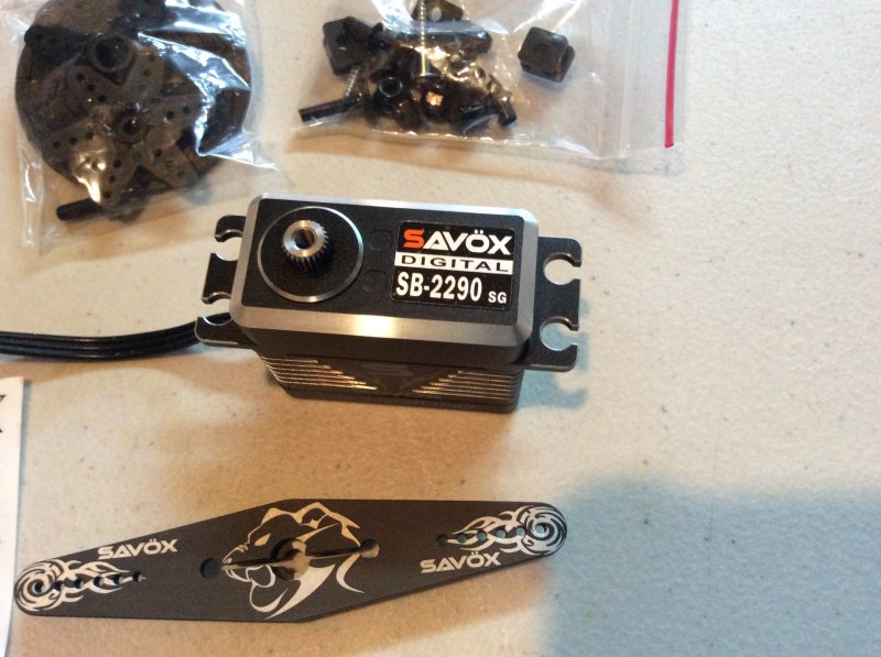 Image 2 of Savox 2290SG Monster Torque Brushless Servo, Black Edition .13sec / 694.4oz 7.4