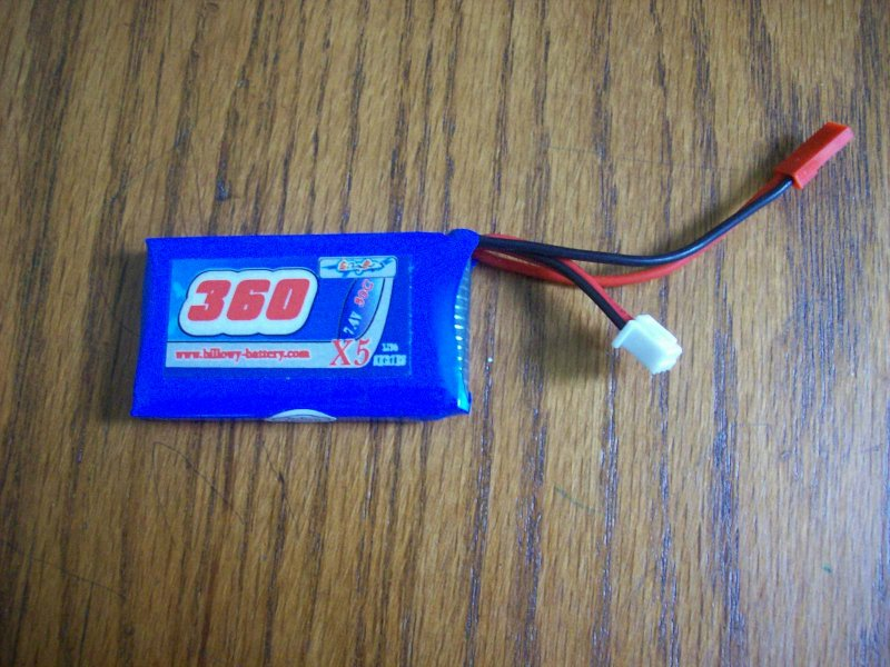 Image 0 of 360mah 7.4volt 30c 2 cell lithium polymer