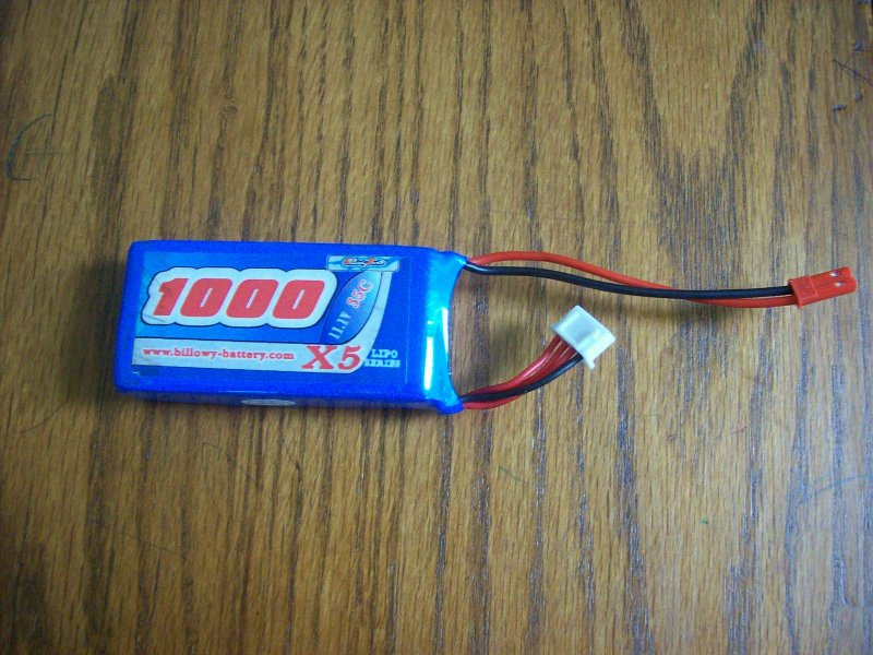 Image 0 of 1000mah 11.1volt 35c 3 cell lithium polymer