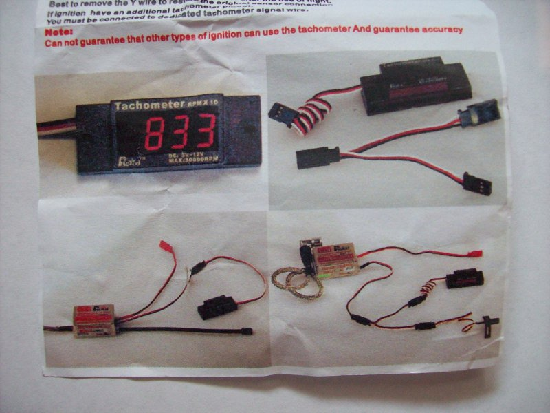 Image 1 of Ignition use mini tachometer RCEXL