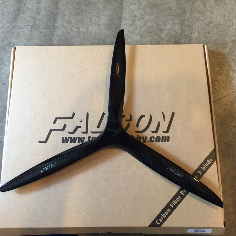 Image 0 of Falcon 23x10 3 Blade Carbon Fiber Propeller Gas