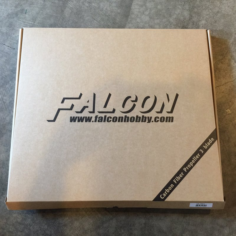 Image 3 of Falcon 26x12 3 Blade Carbon Fiber prop Gas