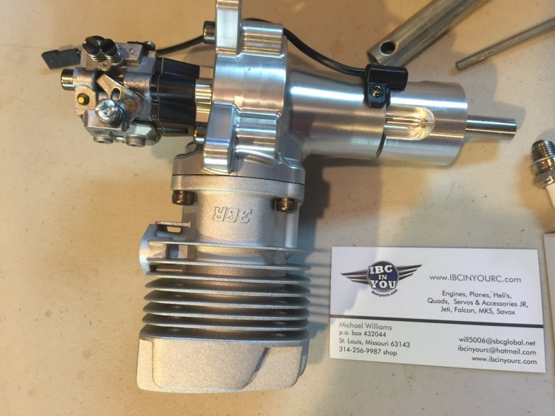 Image 5 of CRRC-PRO GP36R 36cc aircraft engine (gas) 4.2h.p rear carb, rear exhaust