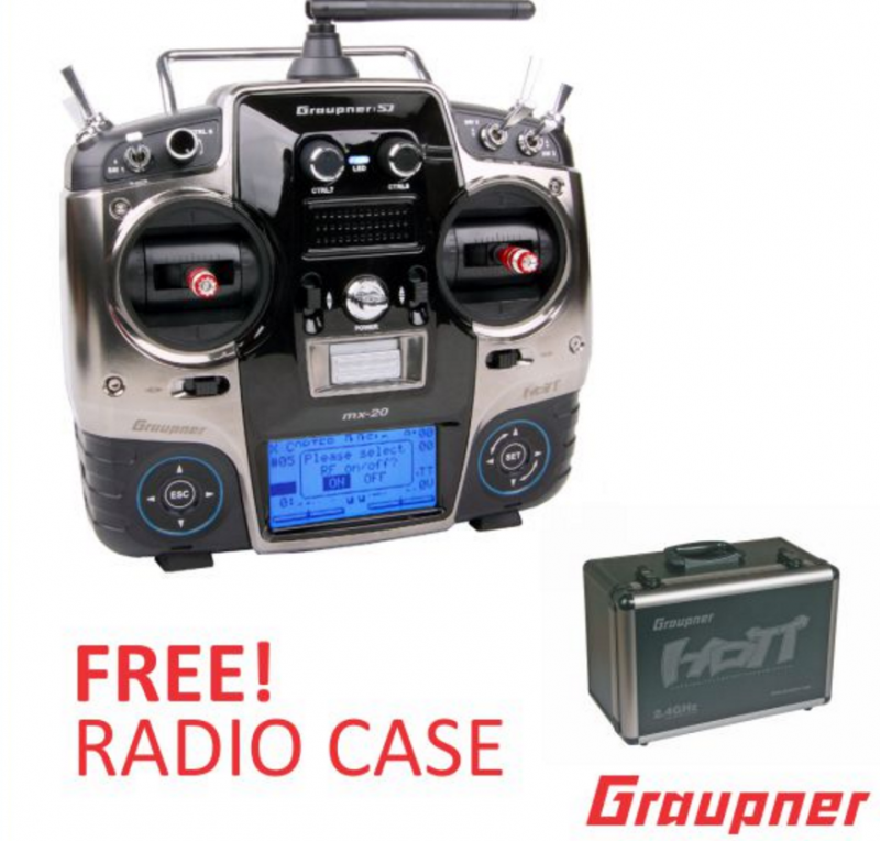 Image 0 of Graupner mx-20 12 Channel 2.4GHz HoTT Transmitter