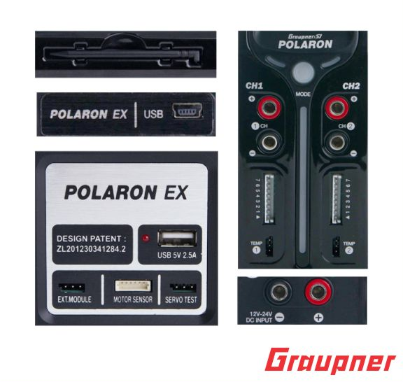 Image 2 of Graupner Polaron Pro Combo 1CH 14S, 2CH NiMh - NiCd 3