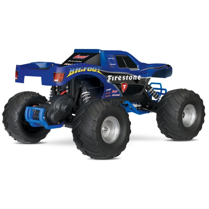 Image 11 of Traxxas BIGFOOT The Original Monster Truck, Firestone Blue, RTR W/ XL5 ESC & TQ