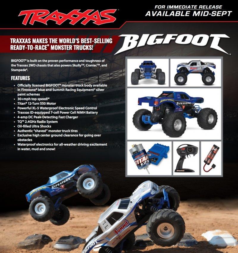 Image 3 of TRAXXAS BIGFOOT Original Monster Truck, Summit Silver, RTR W/ XL5 ESC & TQ 2.4