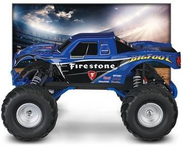 Image 8 of Traxxas BIGFOOT The Original Monster Truck, Firestone Blue, RTR W/ XL5 ESC & TQ