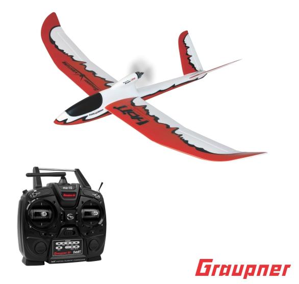 Image 0 of Graupner V-VENTURE HoTT Glider RTF mz-10 Radio Gr-12L Rx