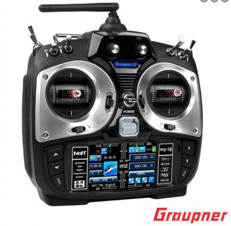 Image 0 of Graupner mz-18 9 Channel 2.4G.HZ HoTT Color TFT Transmitter