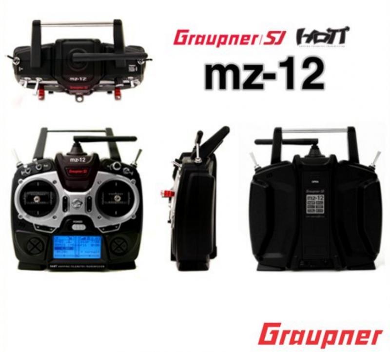 Image 2 of Graupner mz-12 6 Channel 2.4GHz Multirotor HoTT Radio with GR-18 Controller