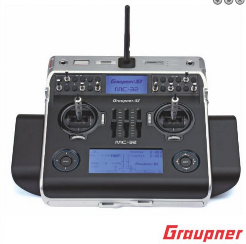 Image 0 of Graupner mc-32 PRO 16 Channel 2.4GHz HoTT Transmitter | Tray Radio
