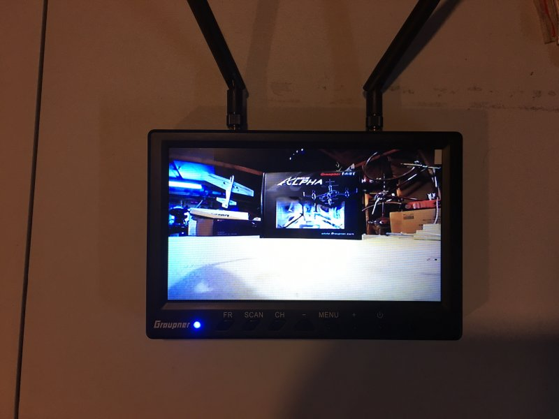 Image 3 of Graupner 7 inch TFT LCD 5.8GHz Diversity Monitor 800x480