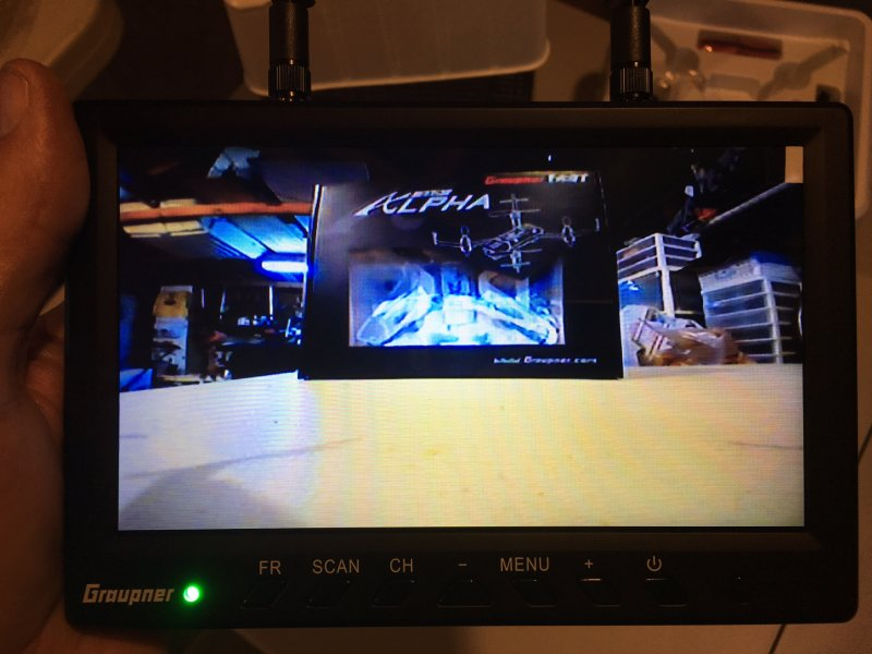 Image 4 of Graupner 7 inch TFT LCD 5.8GHz Diversity Monitor 800x480
