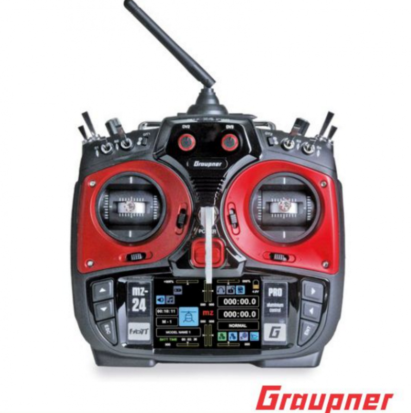 Image 0 of Graupner mz-24 PRO 12 Channel 2.4G.HZ HoTT Color TFT Transmitter Red