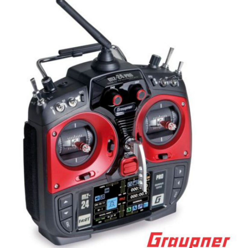 Image 1 of Graupner mz-24 PRO 12 Channel 2.4G.HZ HoTT Color TFT Transmitter Red