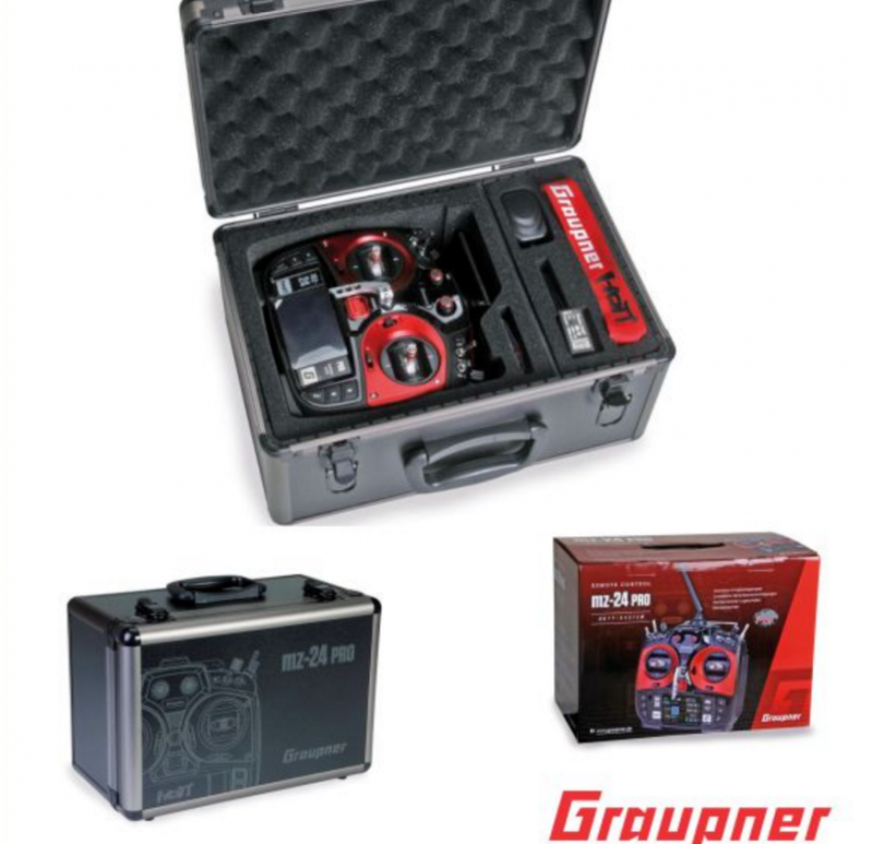 Image 3 of Graupner mz-24 PRO 12 Channel 2.4G.HZ HoTT Color TFT Transmitter Red