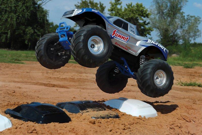 Image 1 of TRAXXAS BIGFOOT Original Monster Truck, Summit Silver, RTR W/ XL5 ESC & TQ 2.4