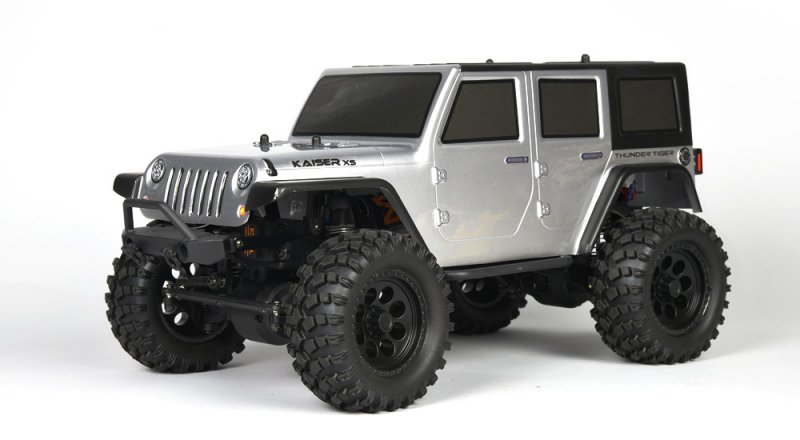 Image 0 of Thunder Tiger Kaiser XS Silver 1/14 Scale 4x4 Off-Road Trail Truck RTR