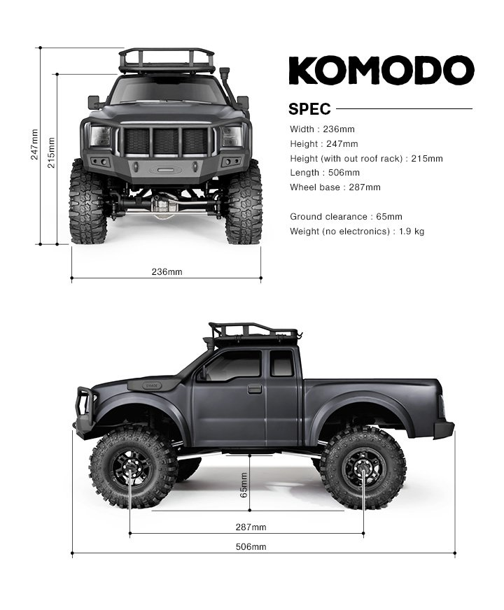 Image 2 of KOMODO RTR, 1/10 Scale 4WD Off-Road Adventure Vehicle, Assembled W/ 2.4 Radio Sy