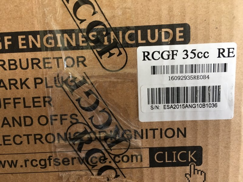 Image 6 of RCGF 35cc RE Rear exhaust & Rear carb r/c aircraft engine gasoline