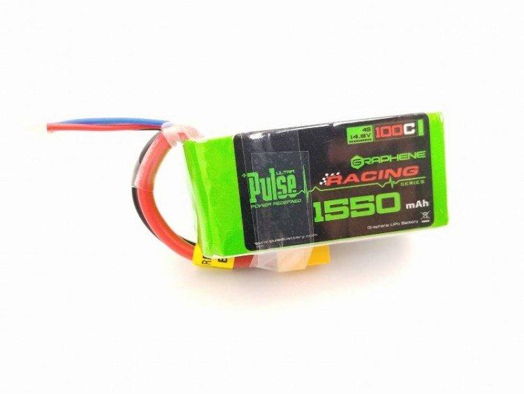 Image 0 of PULSE Graphene 1550mAh 4S 14.8V 100C Battery w/XT60